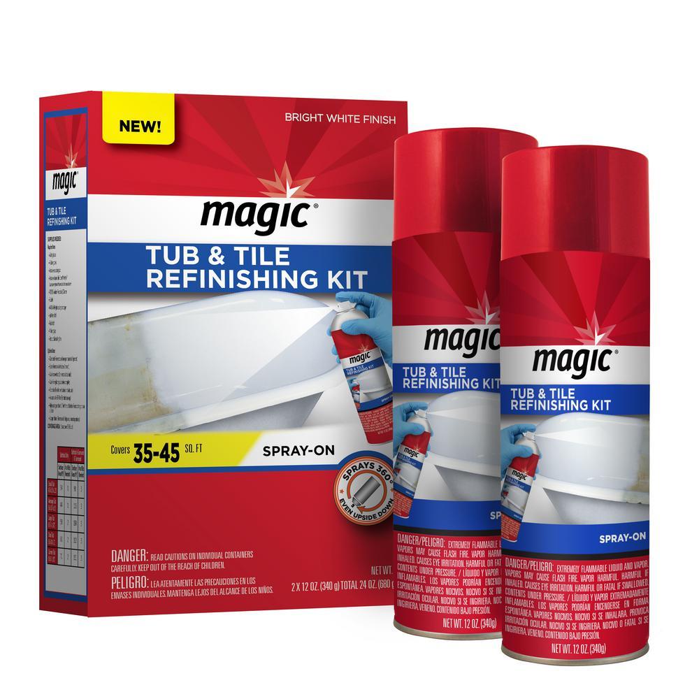 Magic 16 oz. Bath Tub and Tile Refinishing Kit in White-3124 - The ...