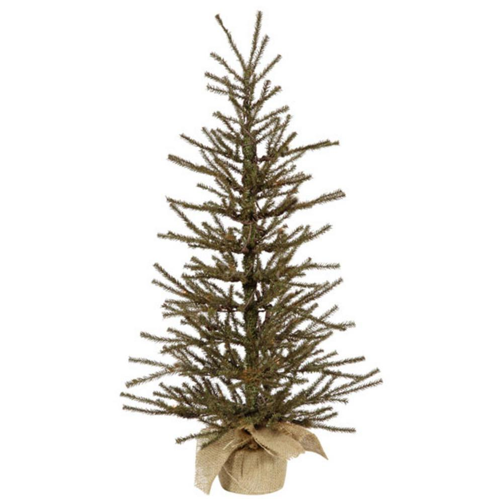 Northlight 3 Ft X 18 In Vienna Twig Artificial Christmas Tree In Burlap Base
