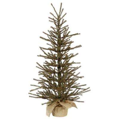 3 ft. x 18 in. Vienna Twig Artificial Christmas Tree in Burlap Base