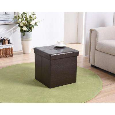 Cube Storage Ottoman in Brown