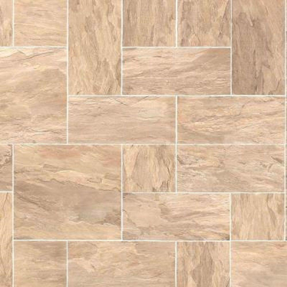 Hampton Bay Slate Taupe Laminate Flooring - 5 in. x 7 in. Take Home Sample
