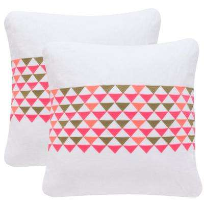 Geo Mountain Embroidered Pillow (2-Pack)