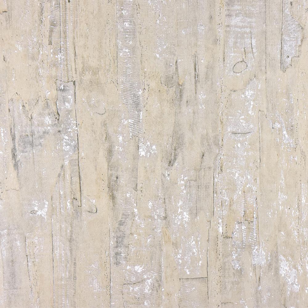 Advantage 57.8 sq. ft. Lindens Cream Wood Wallpaper 2811-BLW10401