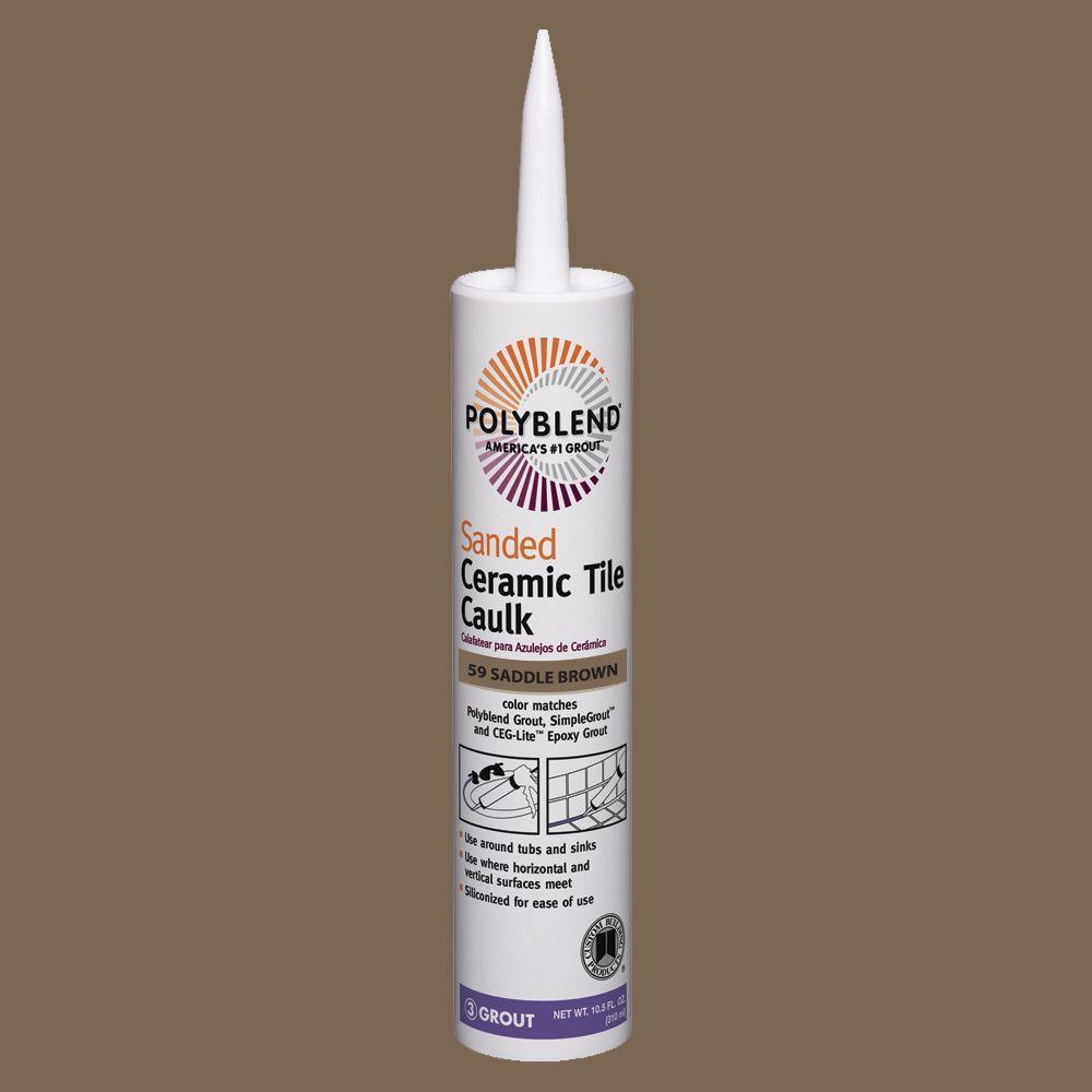 Custom Building Products Polyblend #59 Saddle Brown 10.5 oz. Sanded Ceramic Tile Caulk