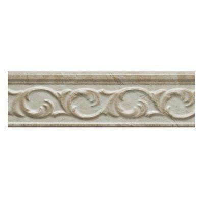 Clorinda White 2.5 in. x 9 in. Ceramic Wall Listello Tile (3.125 sq. ft. / case)