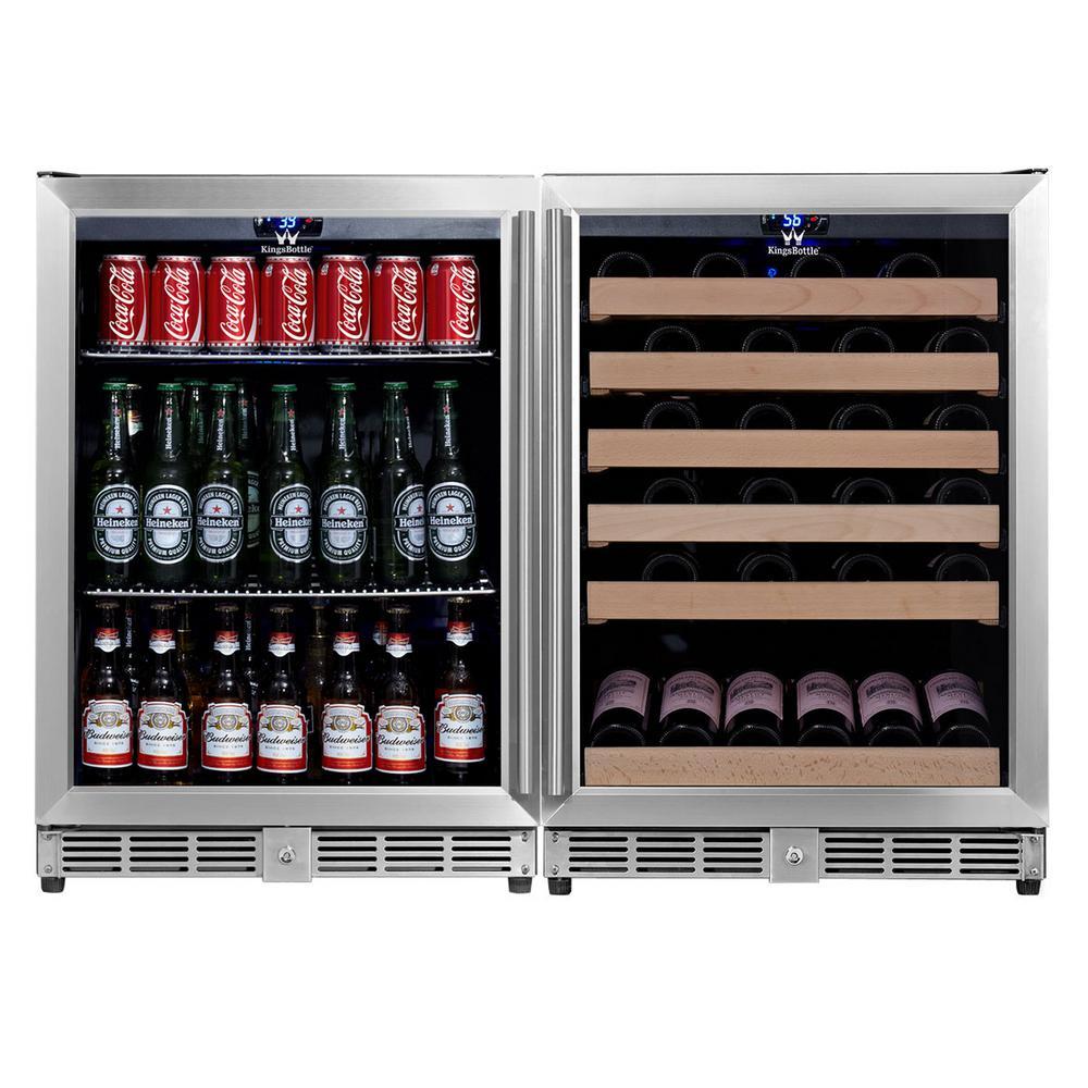 KingsBottle 46.84 in. 46-Bottle Wine and 160-Can Beverage Cooler