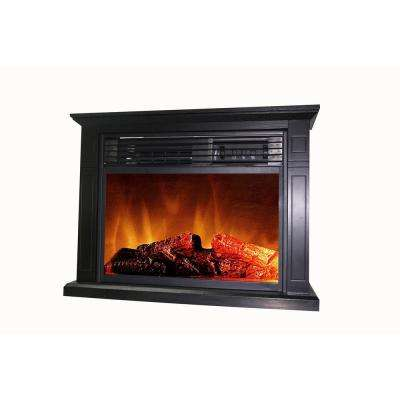 Cedarstone 29 in. 3-Element Mantel Infrared Electric Fireplace in Black