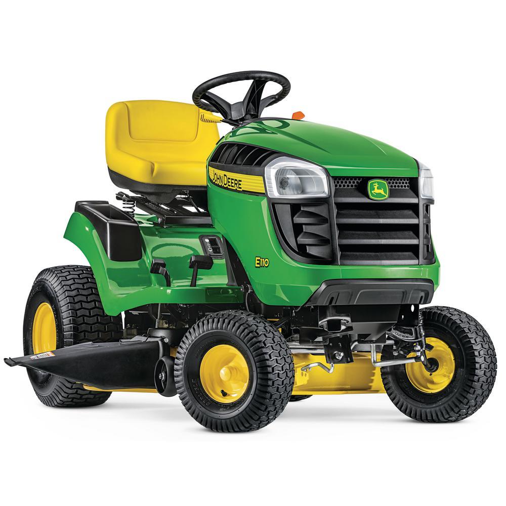 John Deere E110 42 in  19 HP Gas Hydrostatic Lawn Tractor-BG21025
