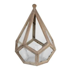 Arcadia Garden Products Delaney 12 inch x 18 inch Glass and Wood Table Top Terrarium by Arcadia Garden Products
