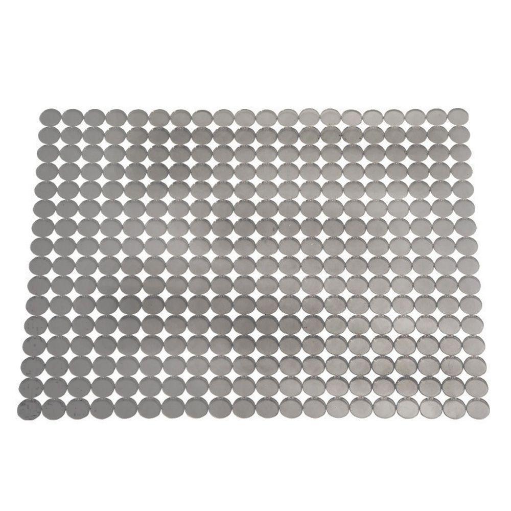 Interdesign Orbz Large Sink Mat In Graphite 70663 The