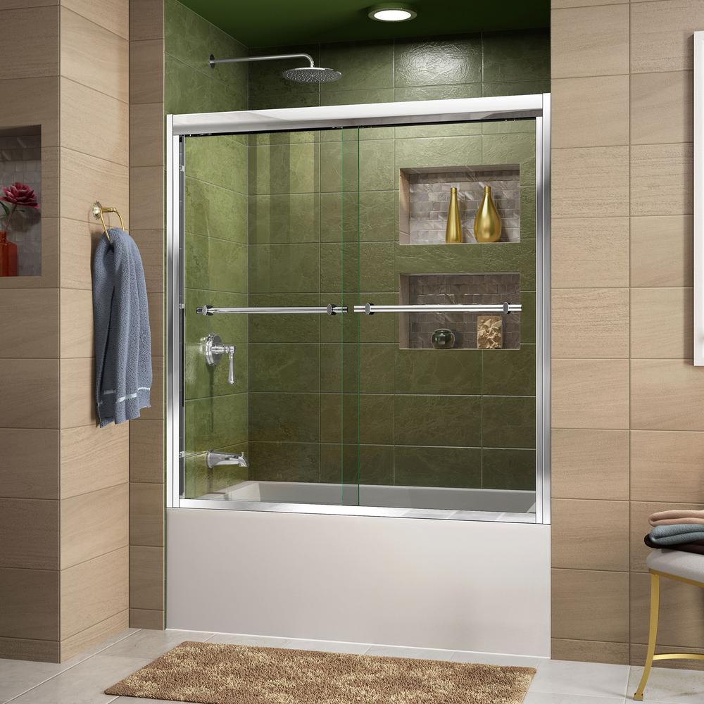 Dreamline duet 56 in to 59 in x 58 in semi framed - Bathtub shower doors ...