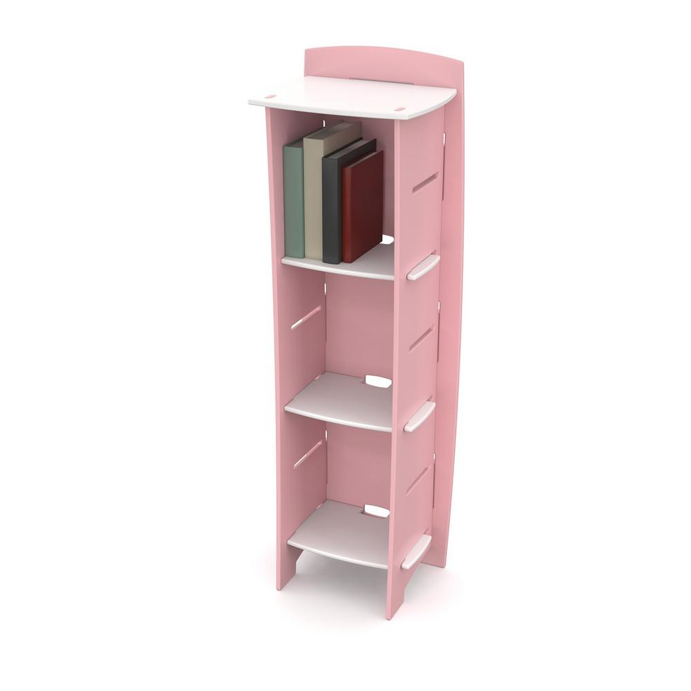 Legare Bookcase Shelves Princess Collection Pink White Image