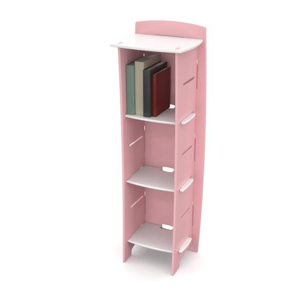 Kid's Bookcase with 3 Shelves in Princess Collection Pink and White