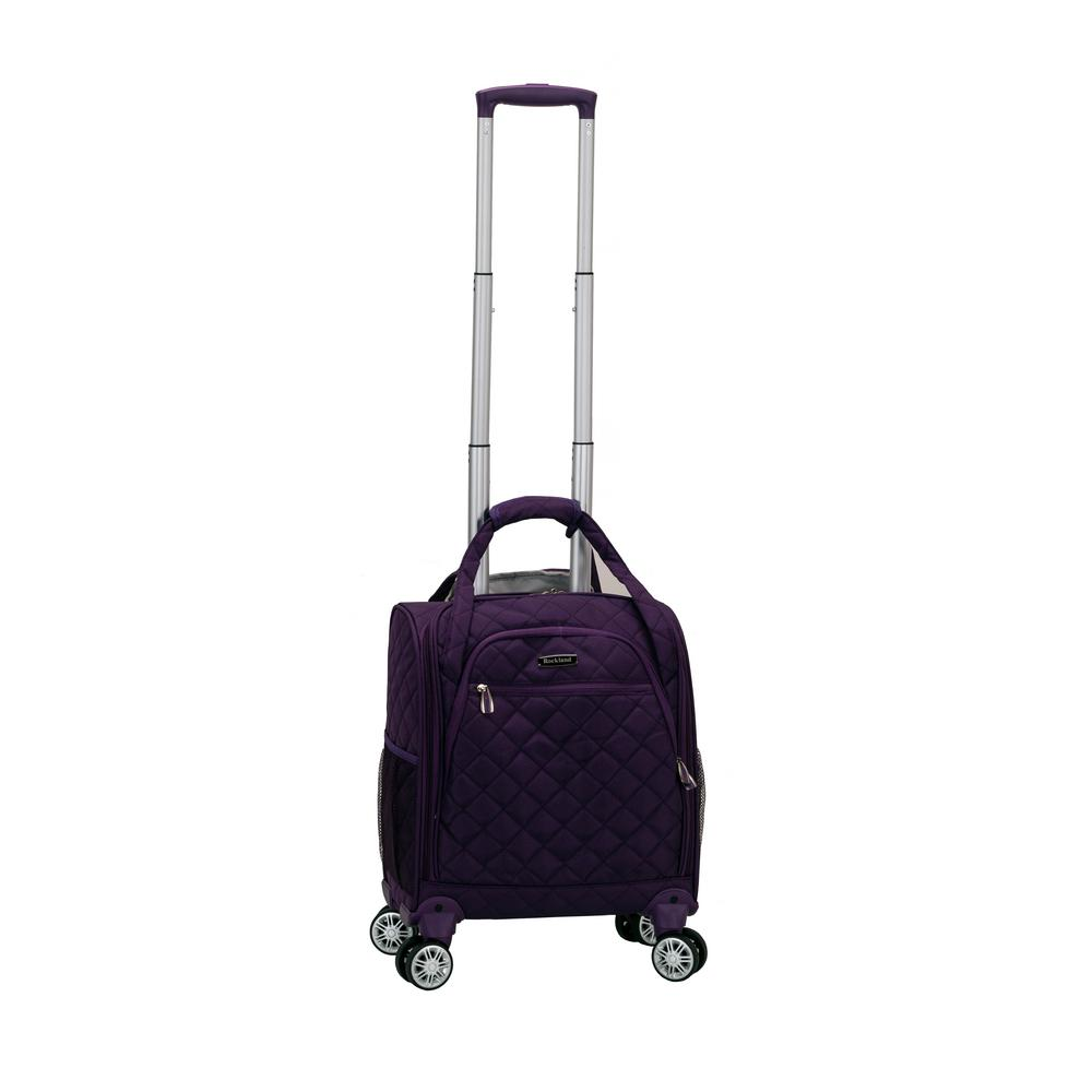 Purple Melrose Wheeled Underseat Carry-On Bag