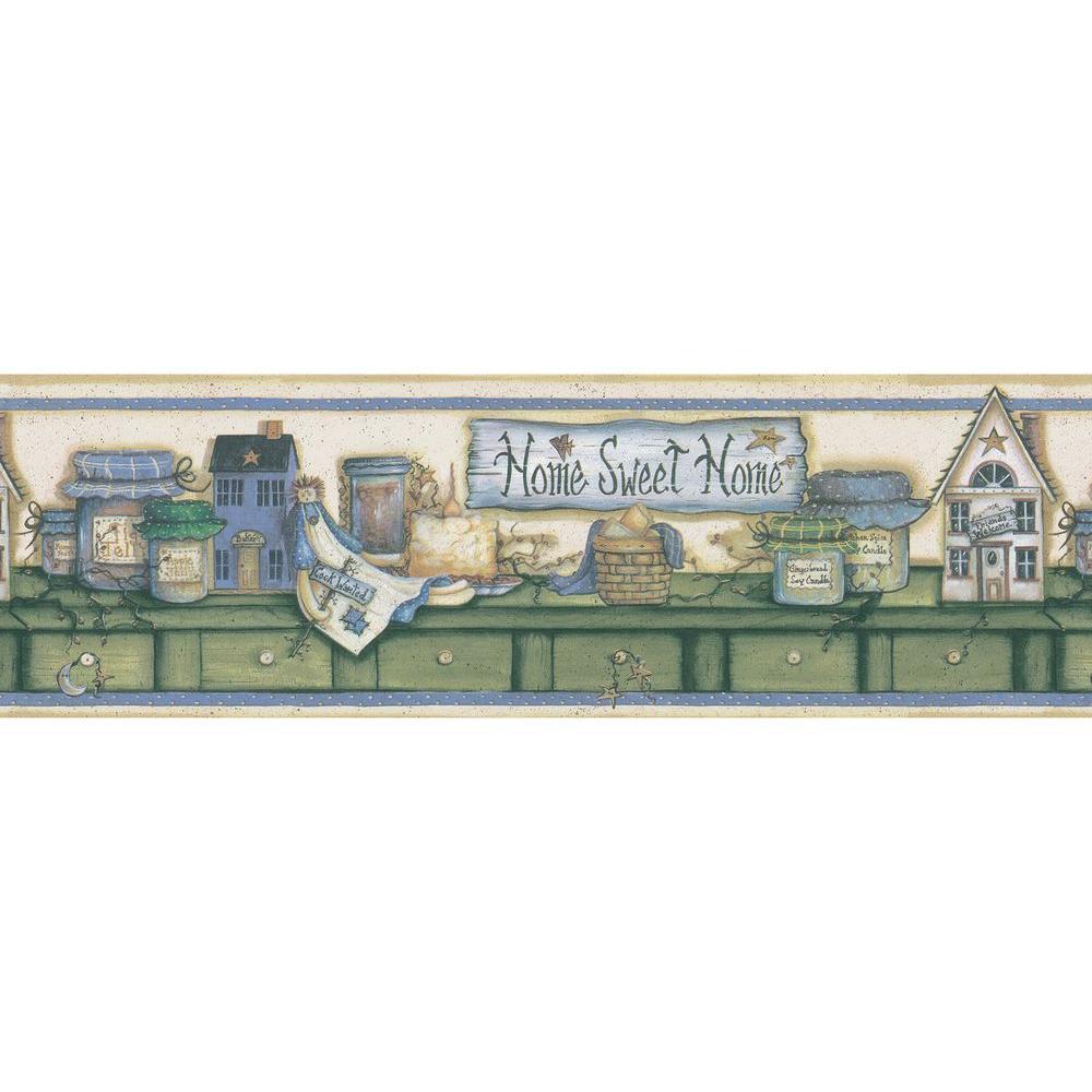 Cream Country Shelf Wallpaper Border Sample