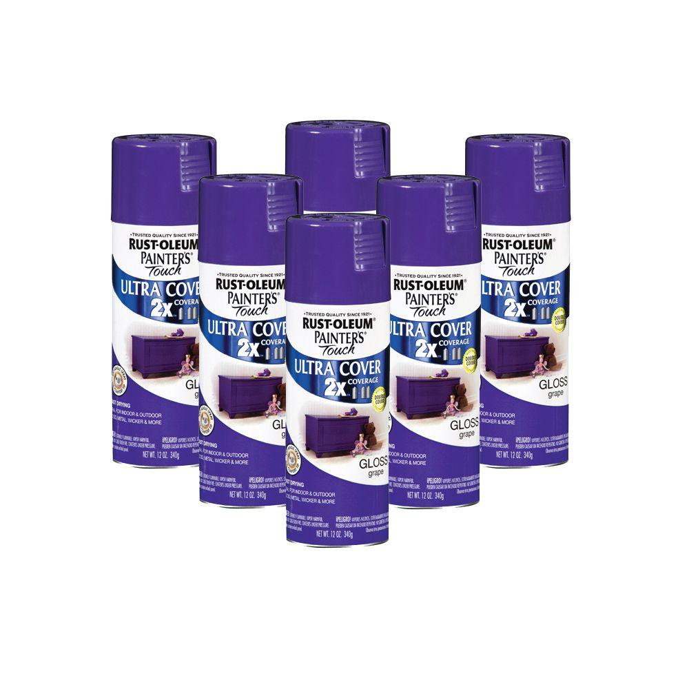 Painter's Touch 12 oz. Gloss Grape Spray Paint (6-Pack)-DISCONTINUED