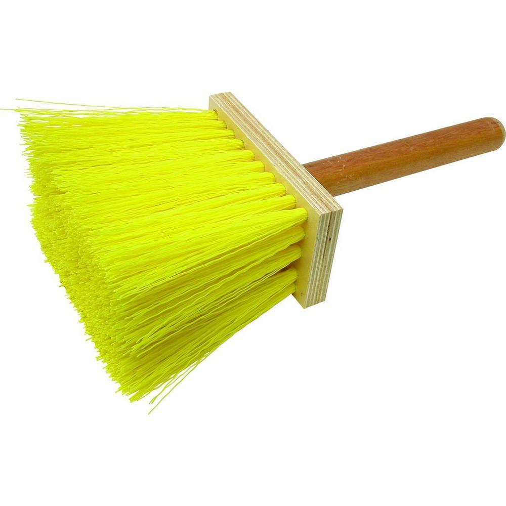 12 in. Concrete Hand Broom-Wood Block
