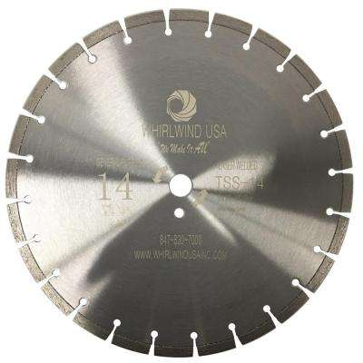 14 in. 23-Teeth Segmented Laser Welded Diamond Blade for Dry or Wet Cutting Concrete, Stone, Brick and Masonry
