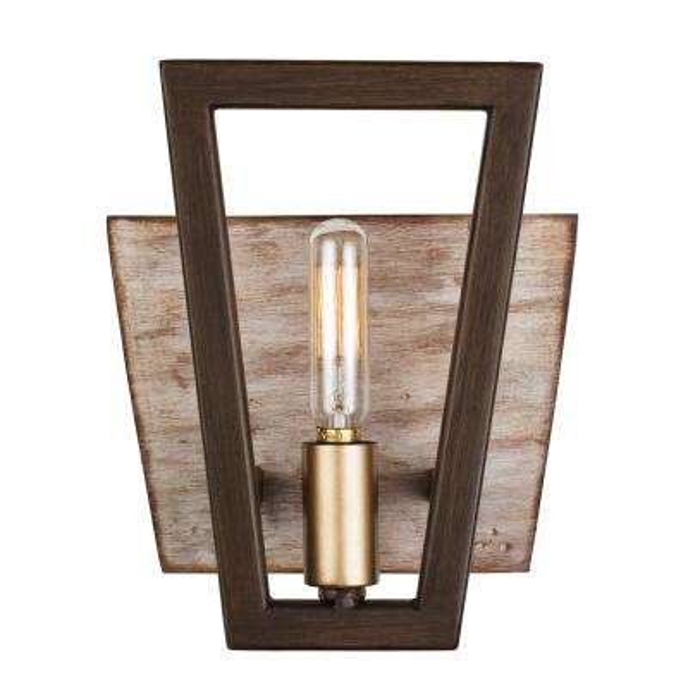 Zag 1-Light Dark Oak Bath Light