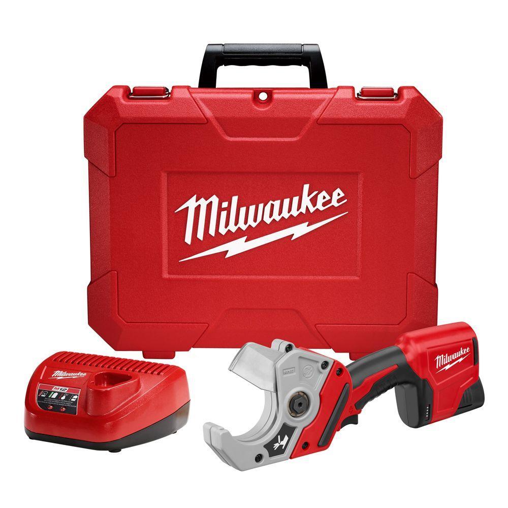 Milwaukee M12 12-Volt Lithium-Ion Cordless PVC Shear Kit W/ (1