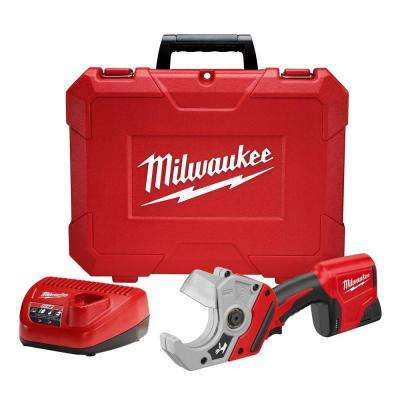 M12 12-Volt Lithium-Ion Cordless PVC Shear Kit W/ (1) 1.5Ah Battery, Charger & Hard Case