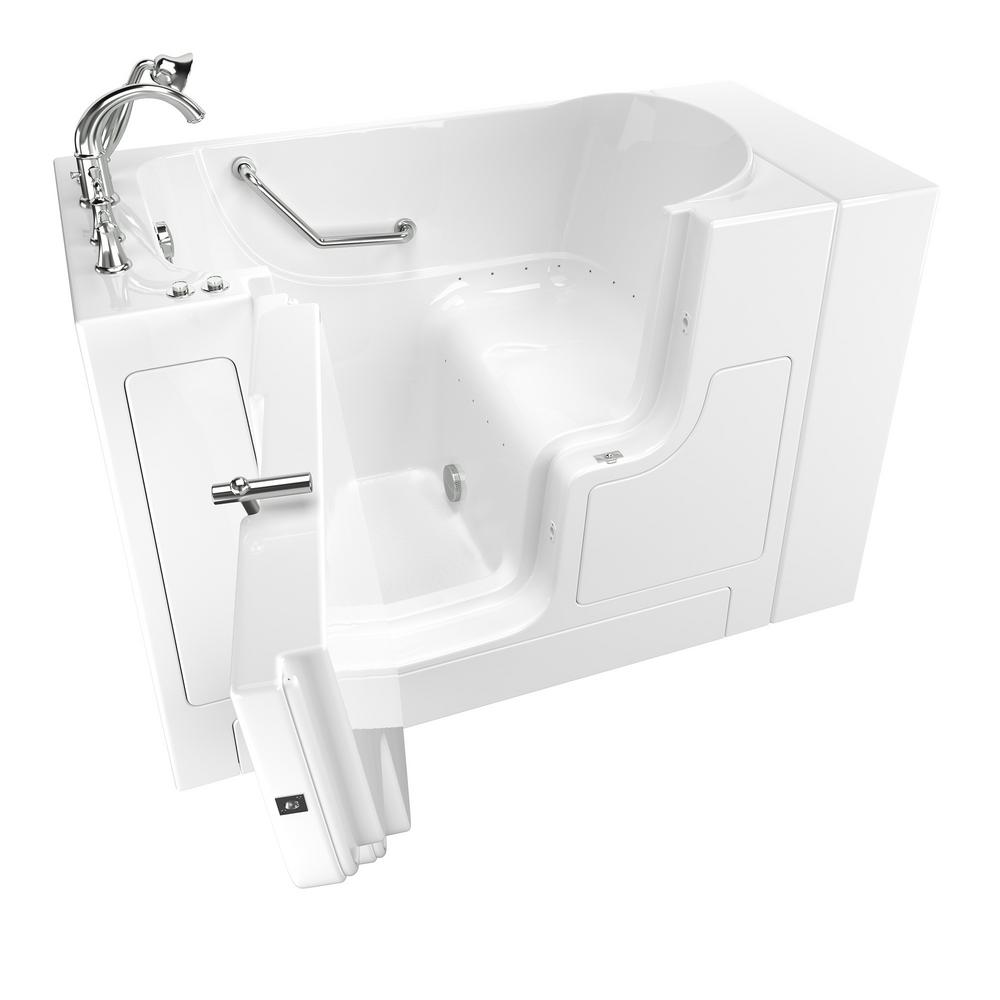 American Standard Gelcoat Value Series 4.3 Ft. Walk In Air Bathtub With  Outward Opening