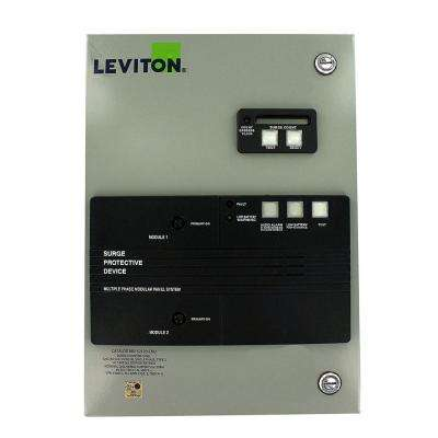 120/240-Volt-Single Phase Surge Panel with Replaceable Surge Modules in Gray