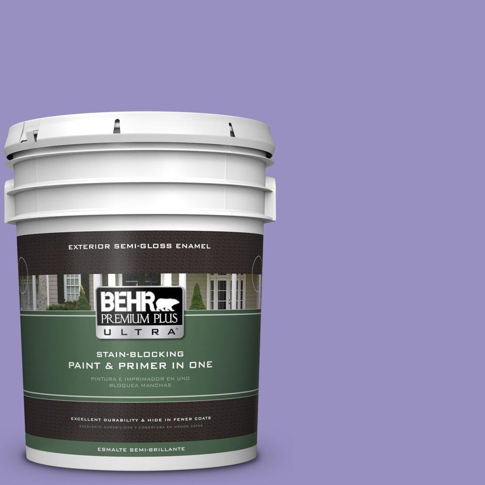 BEHR Premium Plus Ultra 5-gal. #PPU16-5 Lily Of The Nile Semi-Gloss Enamel Exterior Paint