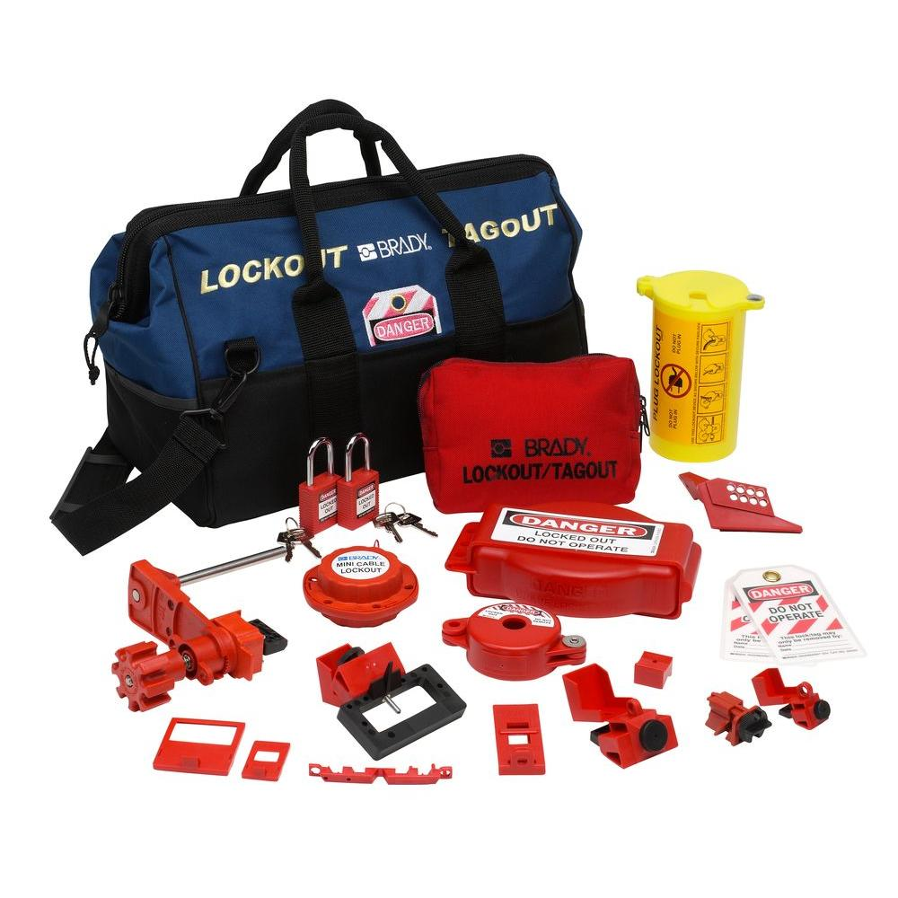 Combination Lockout Duffel with Safety Padlocks and Tags