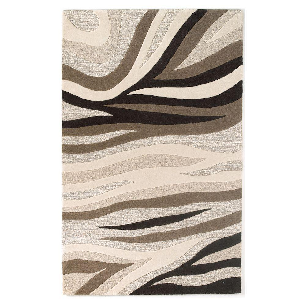 Textured Waves Beige 2 ft. 3 in. x 3 ft. 9