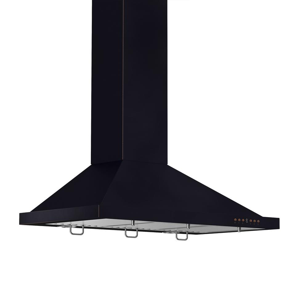 ZLINE Kitchen and Bath ZLINE 36 in. Wall Mount Range Hood in Oil-Rubbed Bronze with Copper Accents