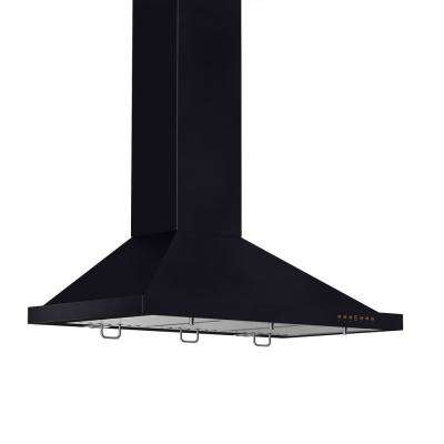 36 in. Wall Mount Range Hood in Oil-Rubbed Bronze with Copper Accents