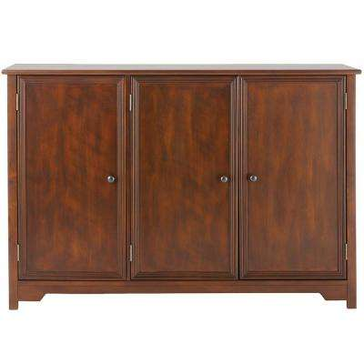 Oxford Chestnut 3-Door Storage Console