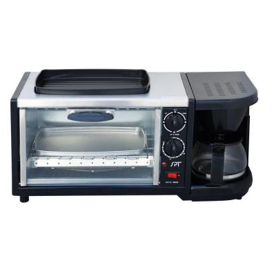 Breakfast Center 1450 W 2-Slice Stainless Steel Toaster Oven with Griddle