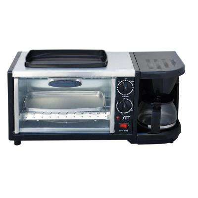 Stainless Steel 3 in 1 Breakfast Center Toaster Oven