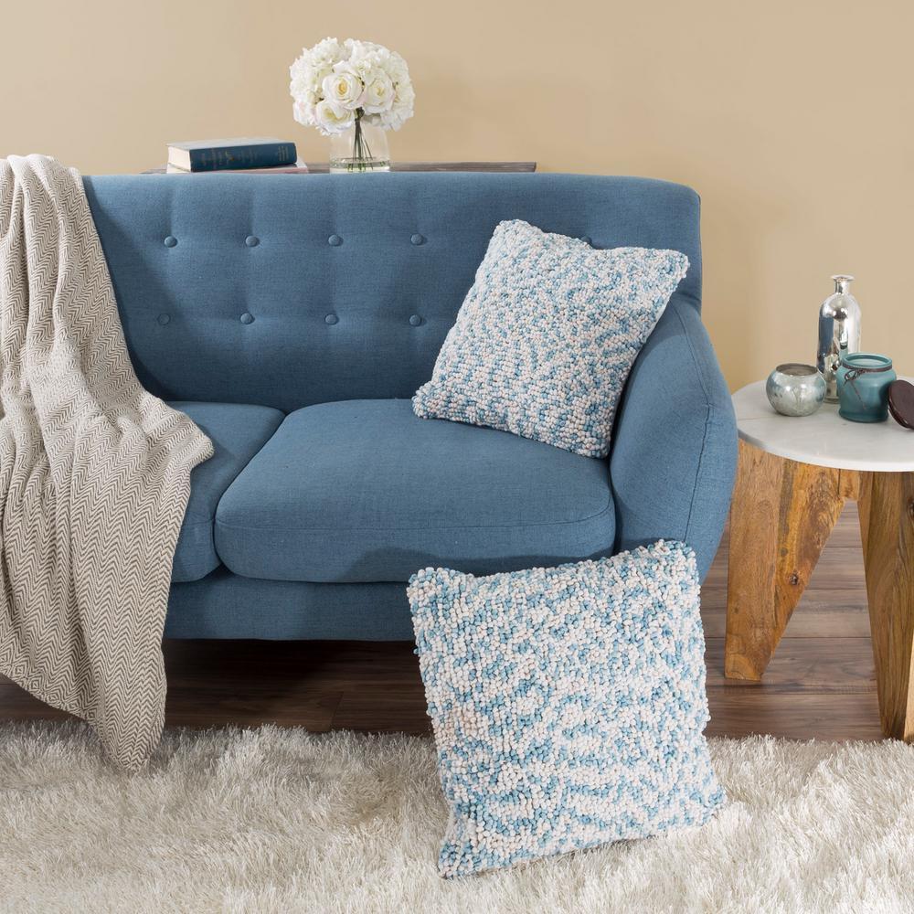 Modern Ombre Loop Blue Decorative Pillow