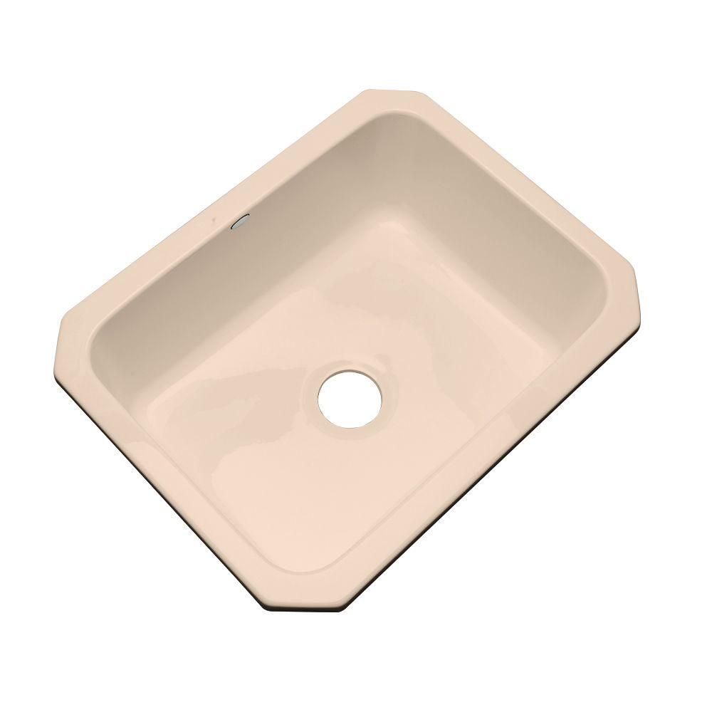 Thermocast Inverness Undermount Acrylic 25 in. Single Bowl Kitchen Sink in Peach Bisque