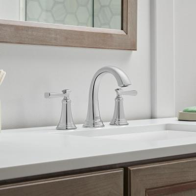 Rumson 8 in. Widespread 2-Handle Bathroom Faucet in Polished Chrome