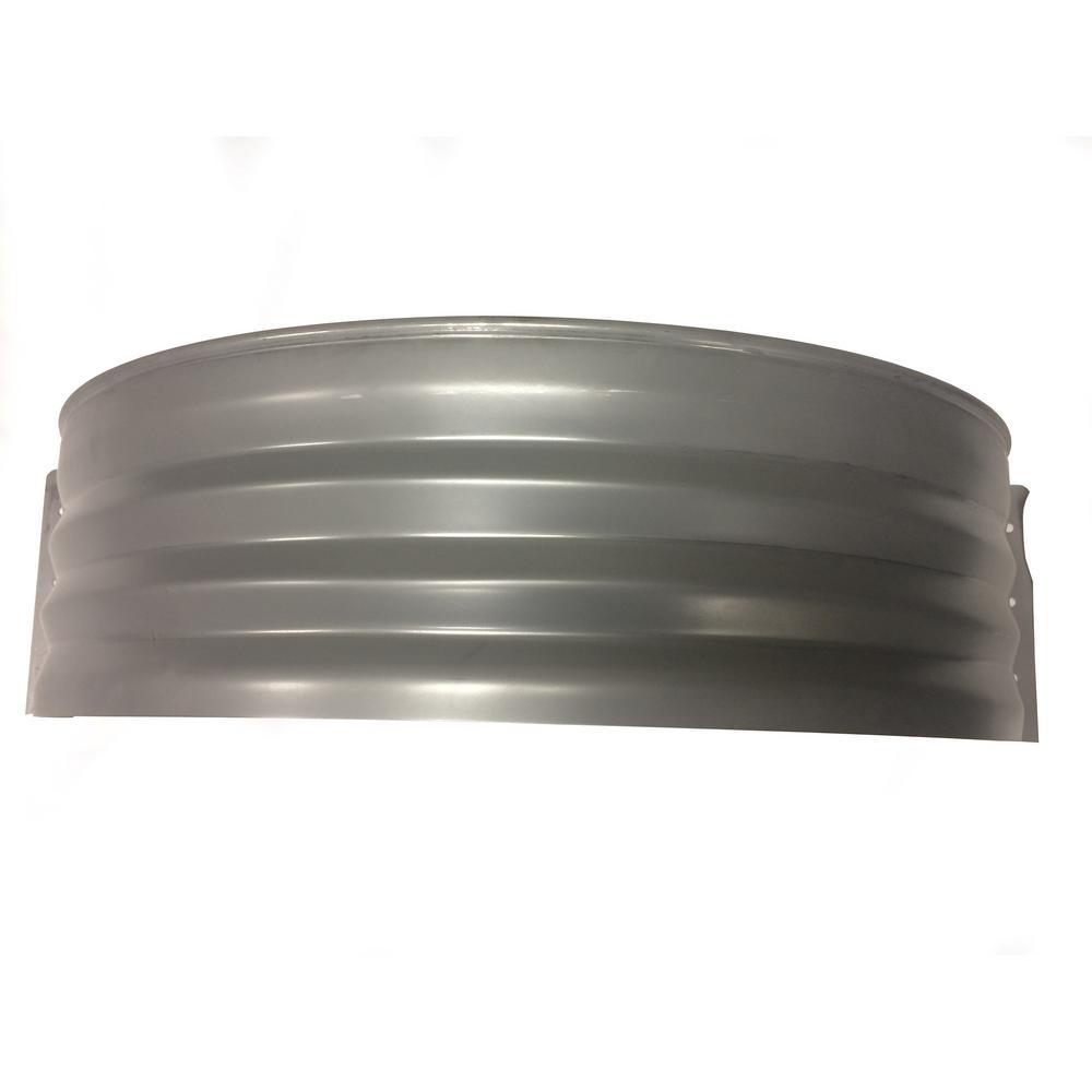 Vestal Manufacturing Vestal 37 in. x 24 in. Galvanized Metal Round Window Well