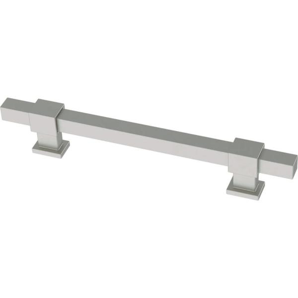 Square Bar 1-3/8 in. to 6-5/16 in. (35 mm to 160 mm) Satin Nickel Matte Adjustable Drawer Pull (5-Pack)