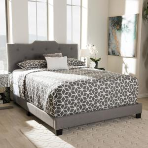 Brunswick Gray Fabric Upholstered Queen Bed