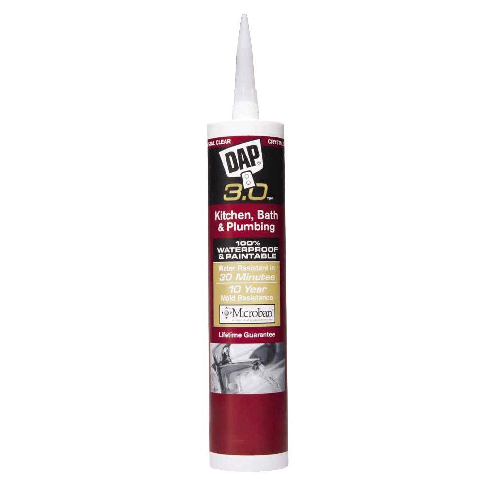 3.0 9 oz. Crystal Clear Kitchen, Bath and Plumbing Sealant
