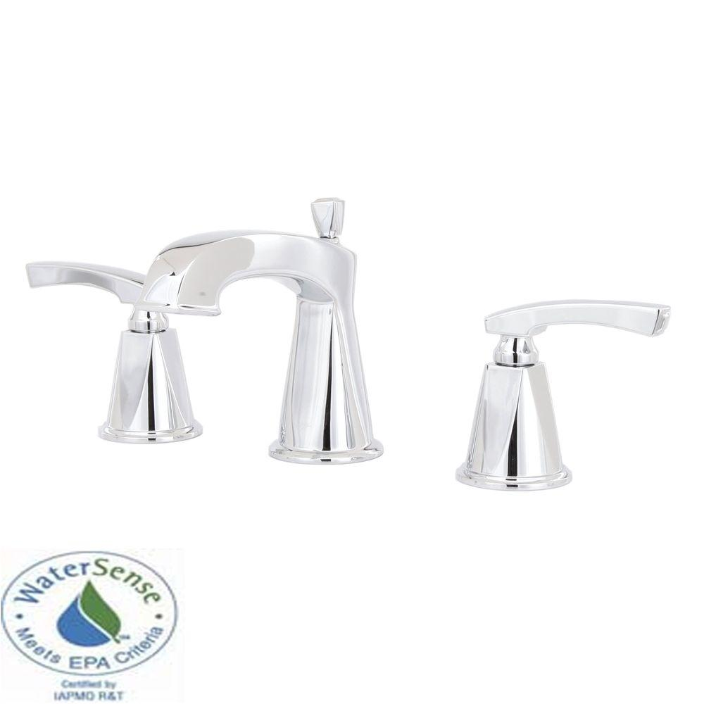 MOEN Divine 8 in. Widespread 2-Handle Low-Arc Bathroom Faucet Trim in Chrome-DISCONTINUED