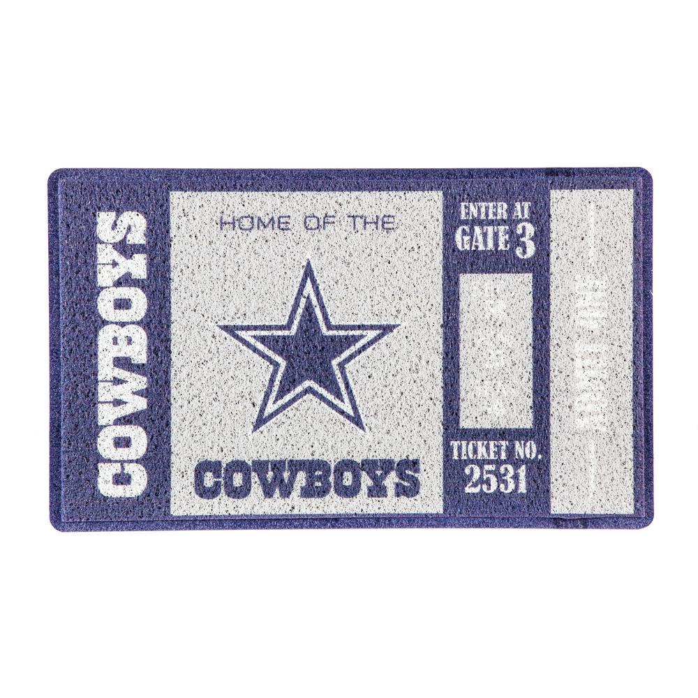 445994dc1bf7f0 Team Sports America Dallas Cowboys 30 in. x 18 in. Vinyl Indoor ...