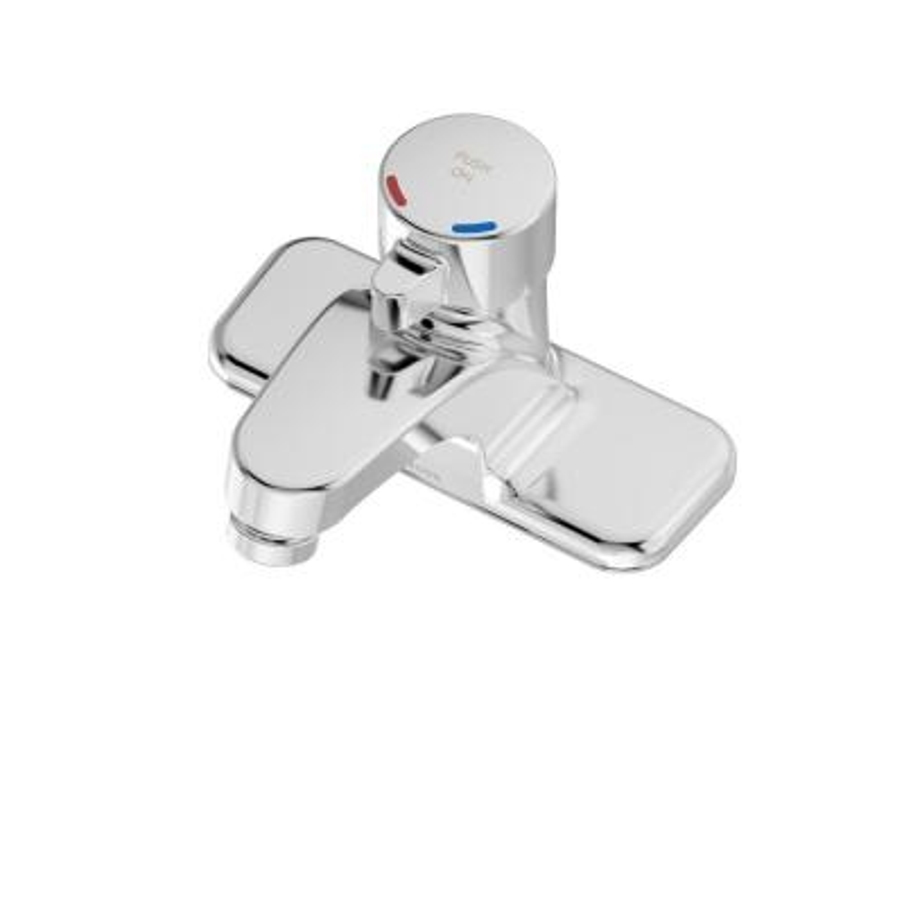 Scot 4 in. Centerset Single-Handle Metering Bathroom Faucet in Chrome