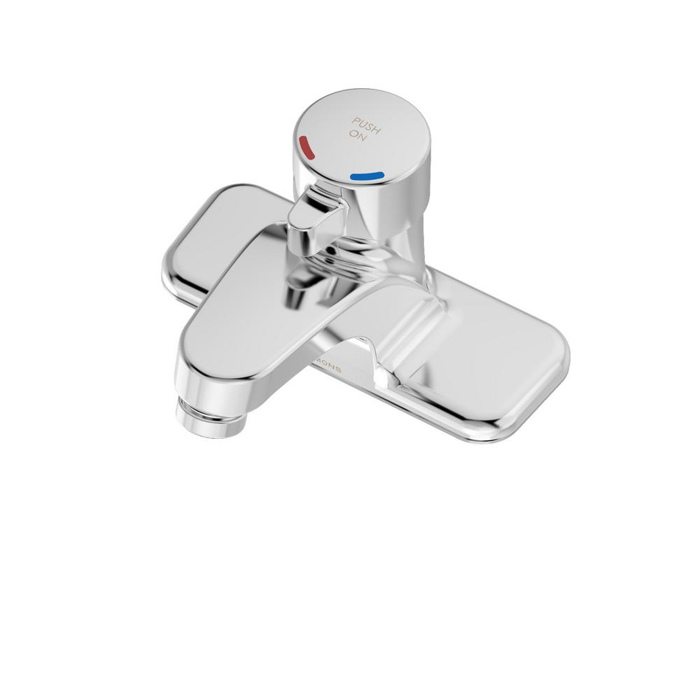Scot 4 in. Centerset Single-Handle Metering Bathroom Faucet in Chrome