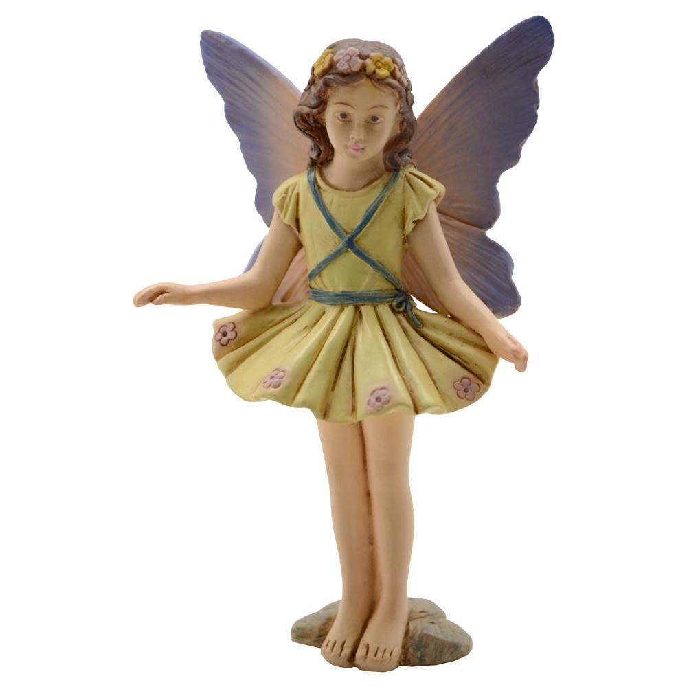 Fairy Garden Polyresin Fairy Girl with Flower Crown