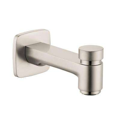 Logis Tub Spout with Diverter in Brushed Nickel