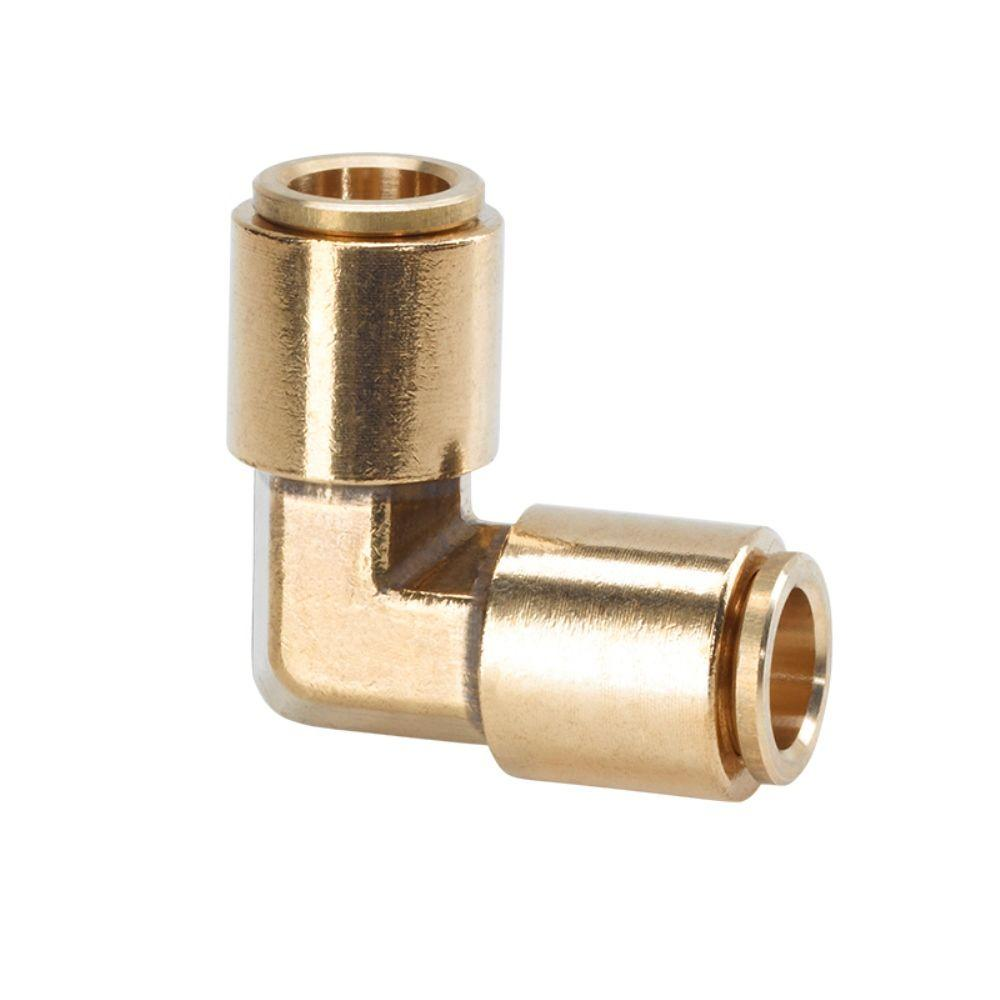 3/8 in. Brass 90-Degree Slip Lock Elbow Connector