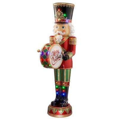 72 in. Nutcracker with Moving Hands plays 8 Christmas Songs
